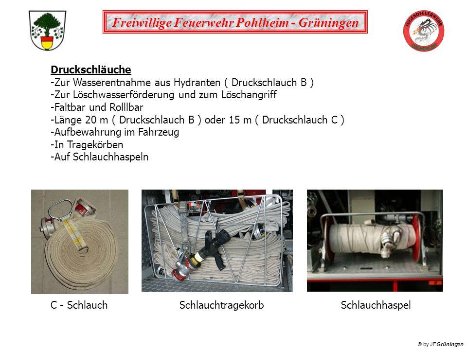 Druckschläuche Zur Wasserentnahme aus Hydranten ( Druckschlauch B ) Zur Löschwasserförderung und zum Löschangriff.