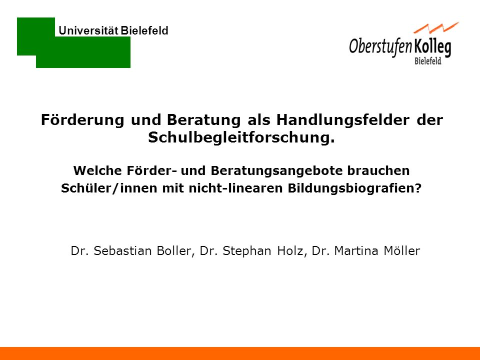 Dr. Sebastian Boller, Dr. Stephan Holz, Dr. Martina Möller