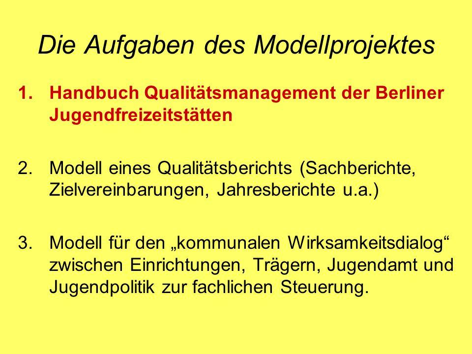 Die Aufgaben des Modellprojektes