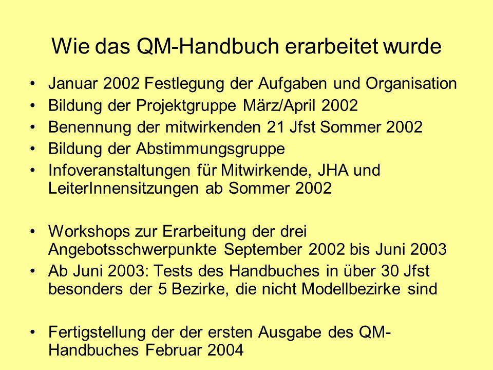Wie das QM-Handbuch erarbeitet wurde