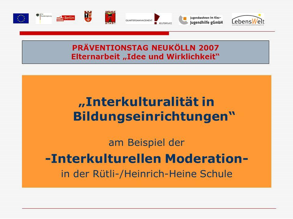 """""""Interkulturalität in Bildungseinrichtungen"""