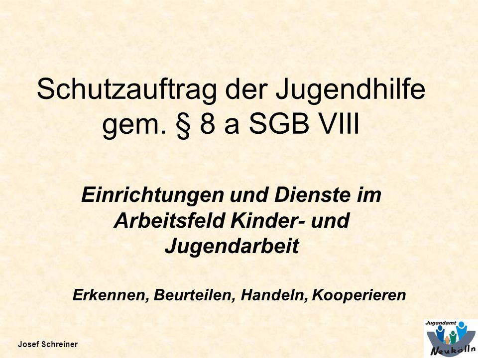 Schutzauftrag der Jugendhilfe gem. § 8 a SGB VIII