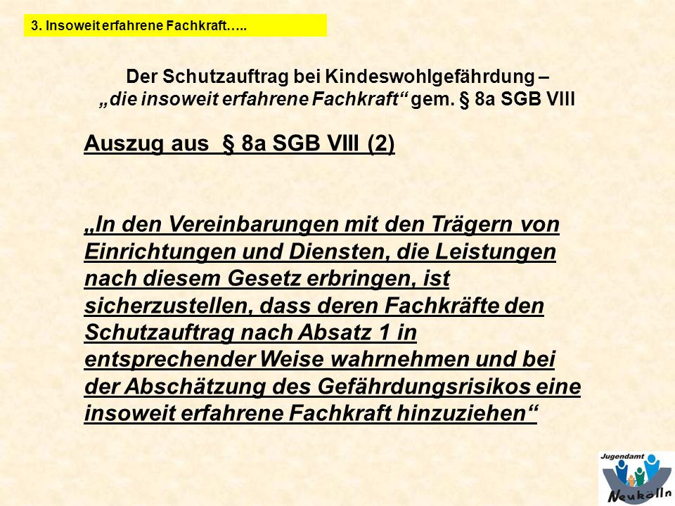 Auszug aus § 8a SGB VIII (2)