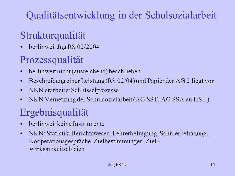 Qualitätsentwicklung in der Schulsozialarbeit