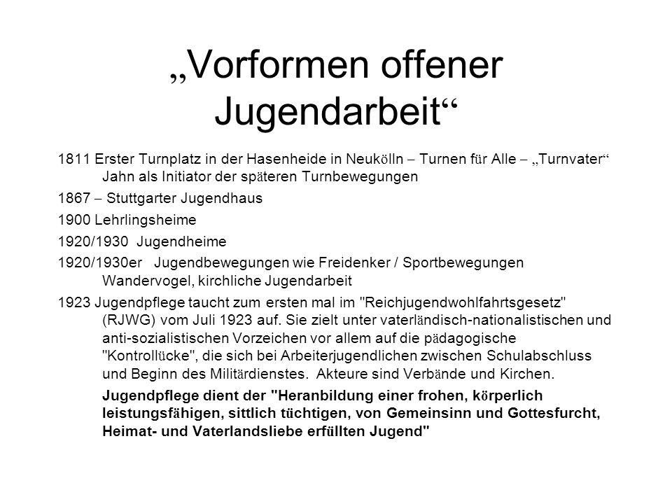 """Vorformen offener Jugendarbeit"