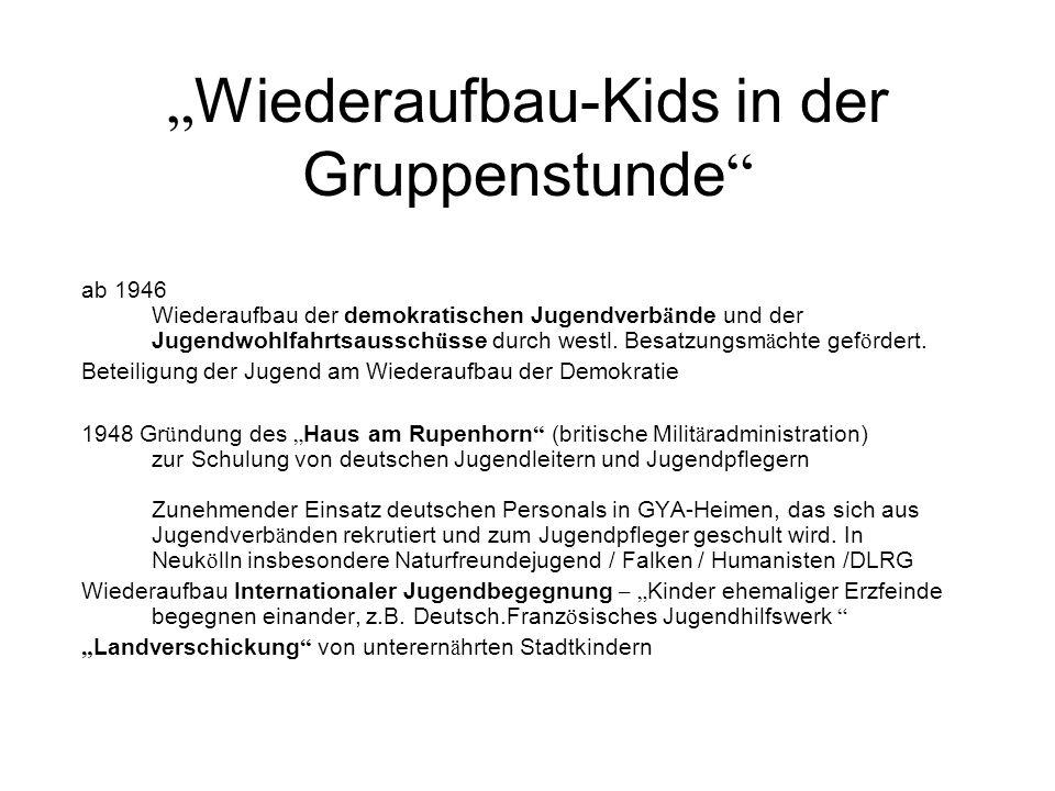 """""""Wiederaufbau-Kids in der Gruppenstunde"""