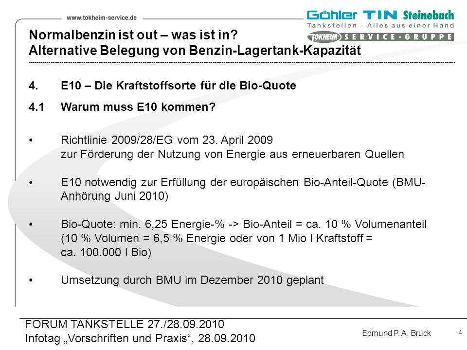 E10 – Die Kraftstoffsorte für die Bio-Quote