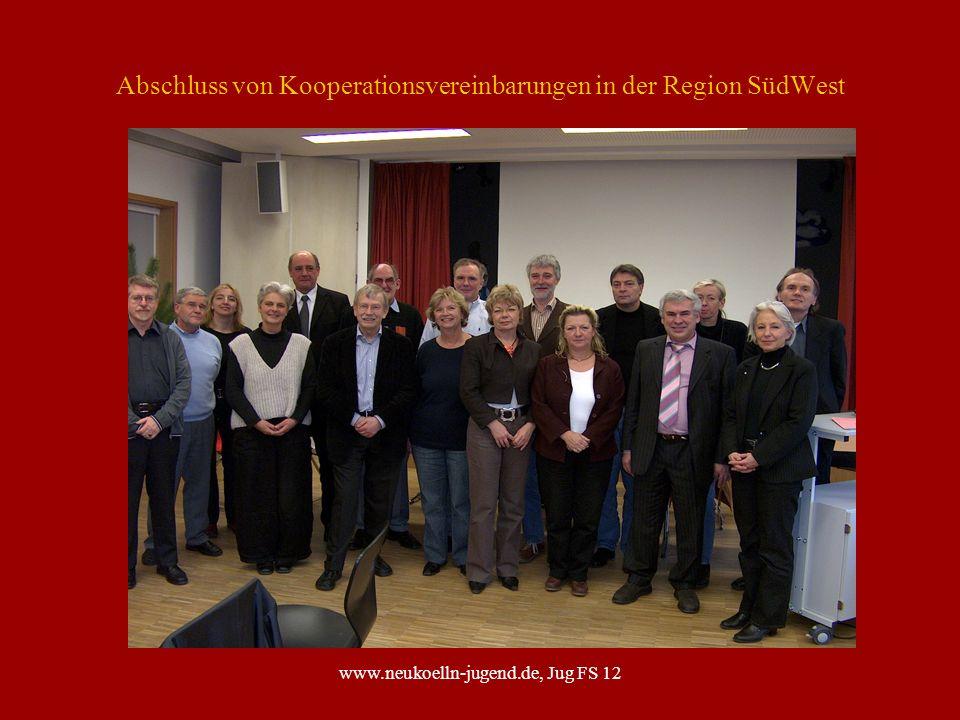 Abschluss von Kooperationsvereinbarungen in der Region SüdWest