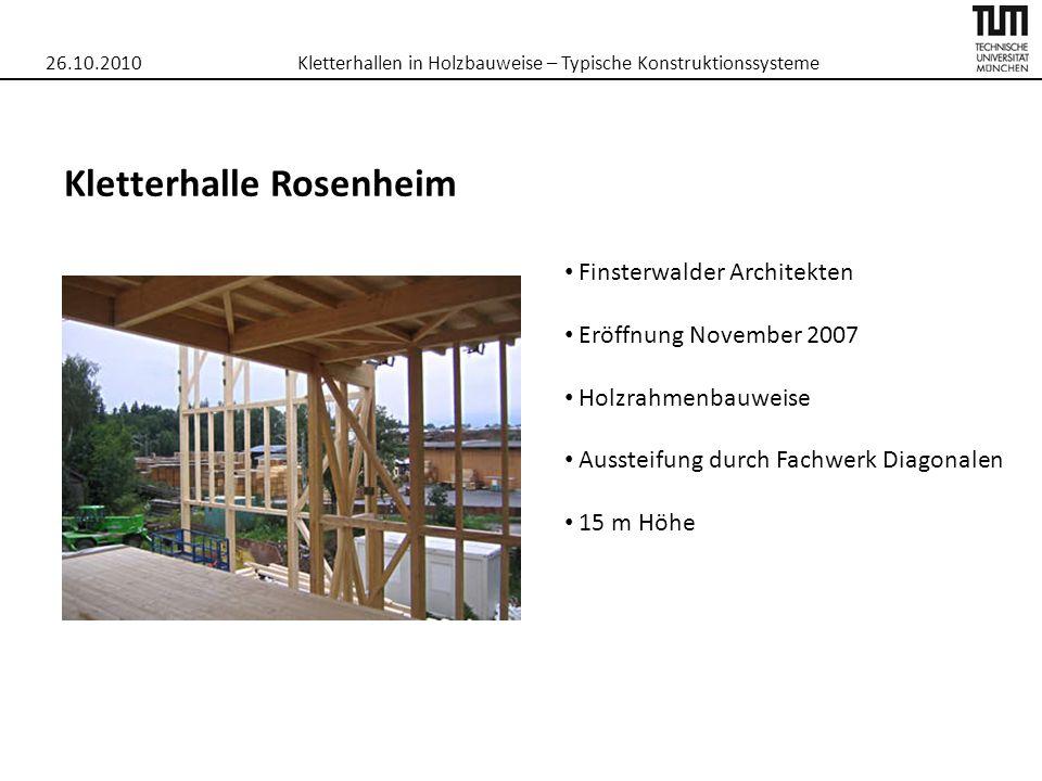 Kletterhallen in Holzbauweise – Typische Konstruktionssysteme