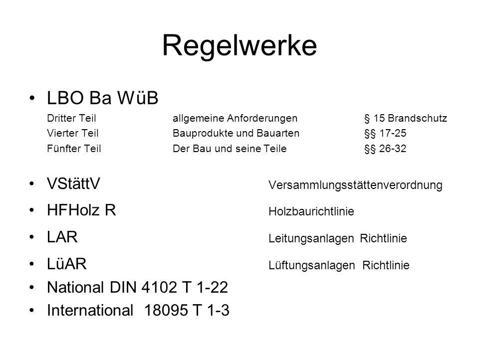 Regelwerke LBO Ba WüB VStättV Versammlungsstättenverordnung