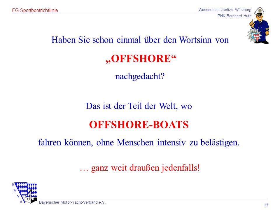 """OFFSHORE-BOATS Haben Sie schon einmal über den Wortsinn von """"OFFSHORE"""