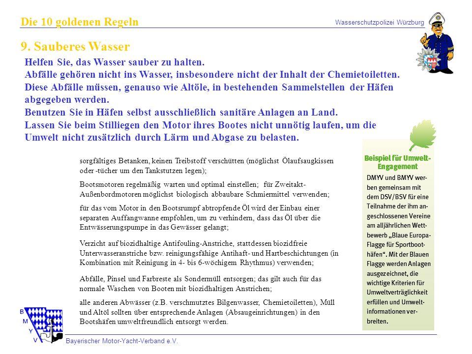 9. Sauberes Wasser Die 10 goldenen Regeln