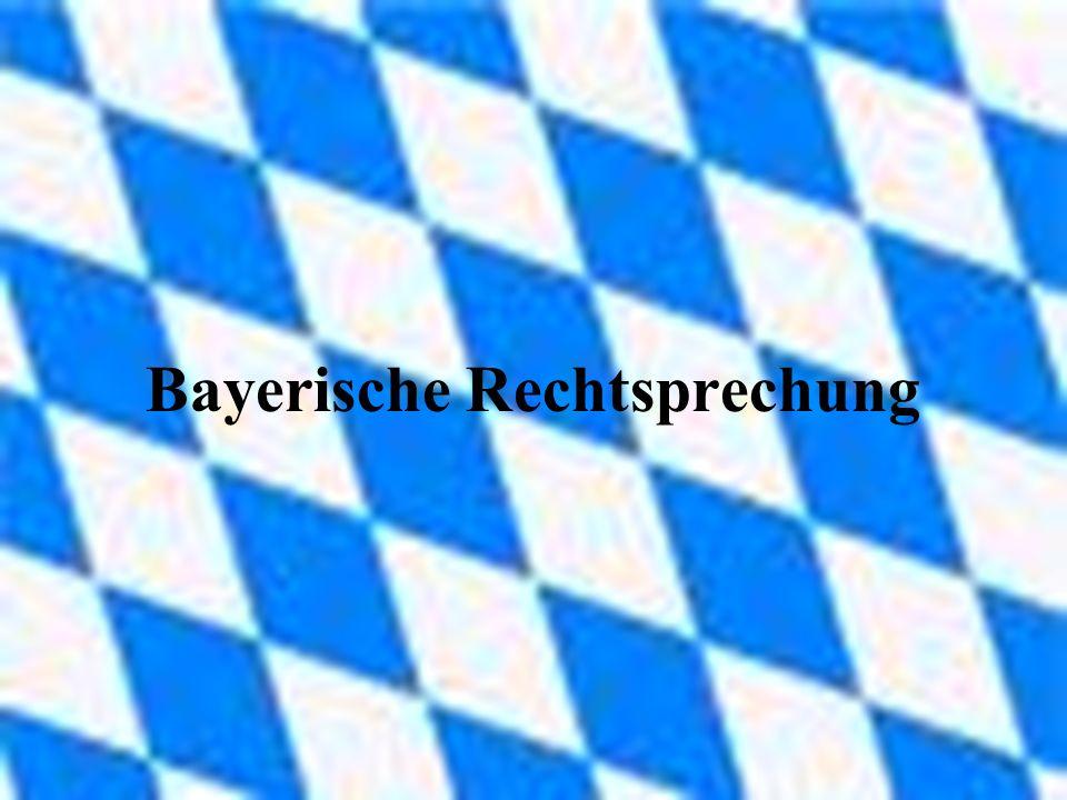 Bayerische Rechtsprechung