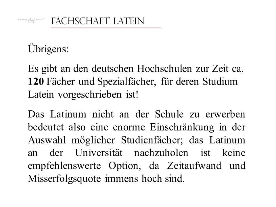 Fachschaft Latein Übrigens: