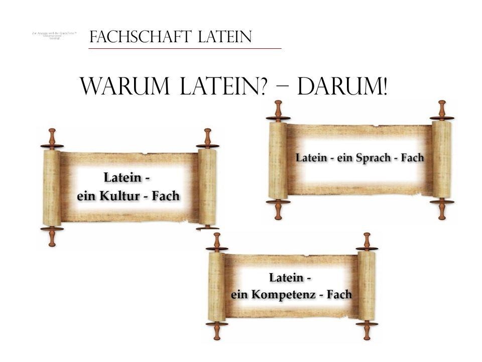 Fachschaft Latein Warum Latein – Darum!