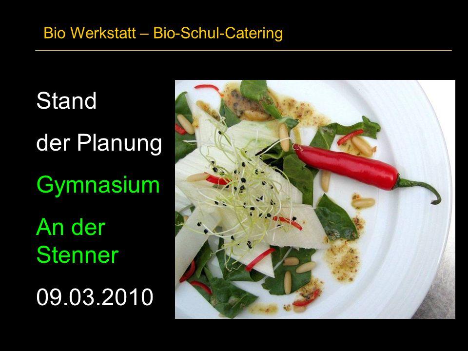Stand der Planung Gymnasium An der Stenner 09.03.2010