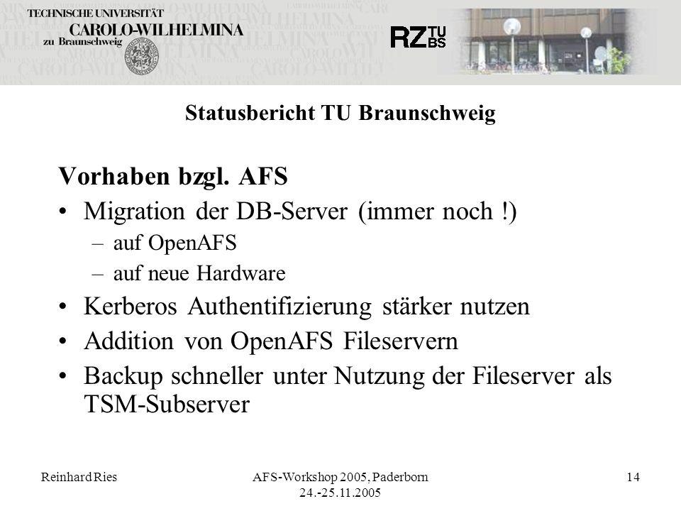 Statusbericht TU Braunschweig