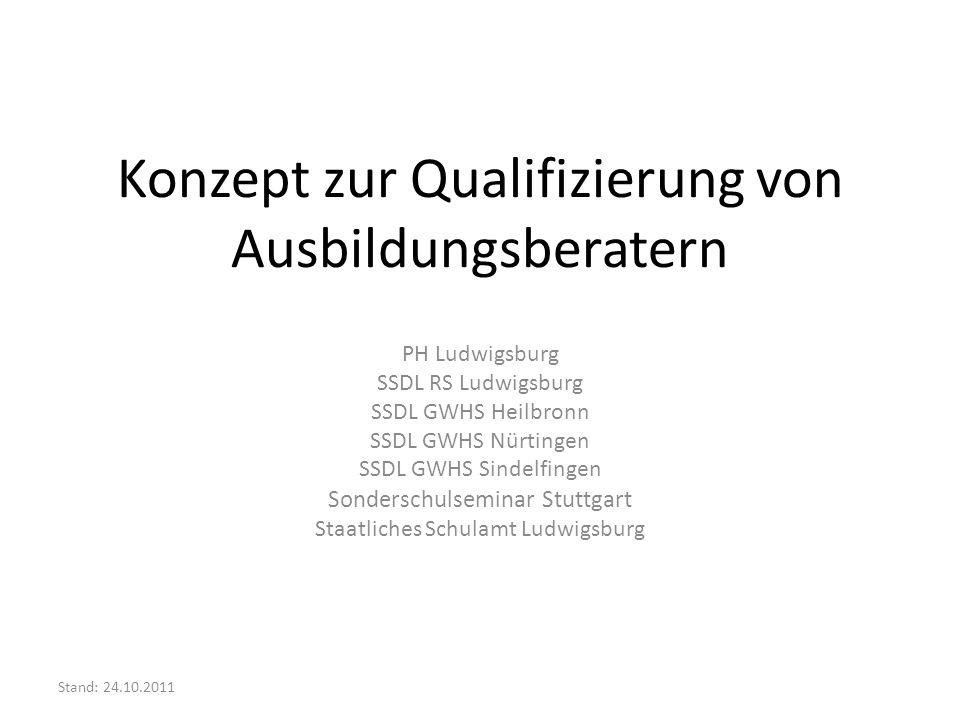 Konzept zur Qualifizierung von Ausbildungsberatern