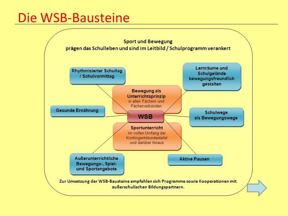 Die WSB-Bausteine WSB Sport und Bewegung