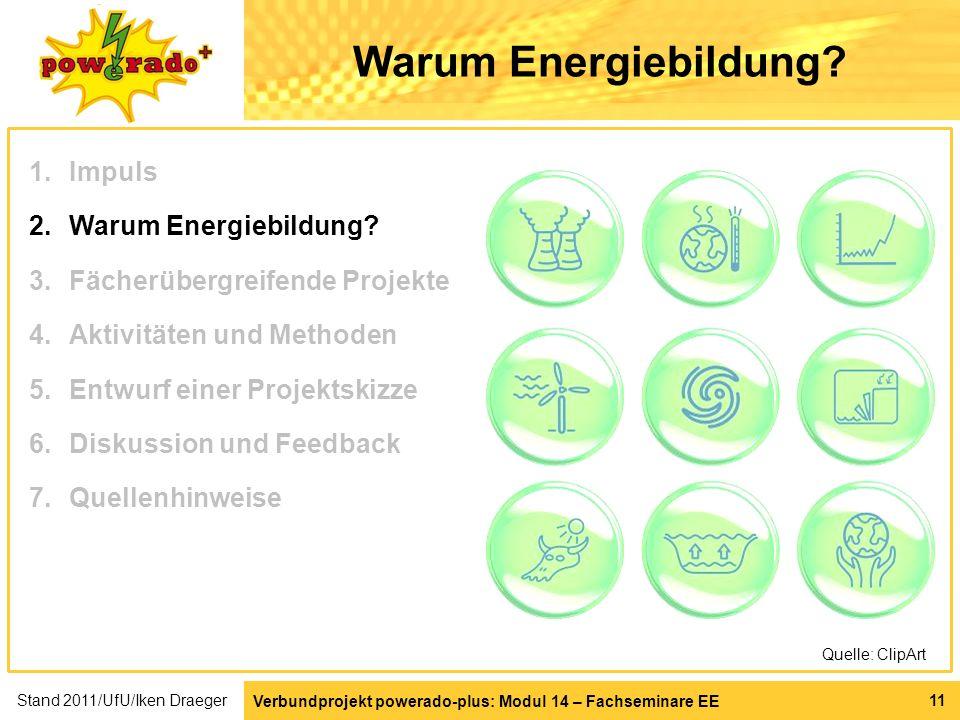 Warum Energiebildung Impuls Warum Energiebildung