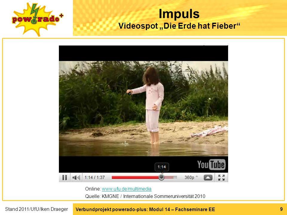 """Impuls Videospot """"Die Erde hat Fieber"""