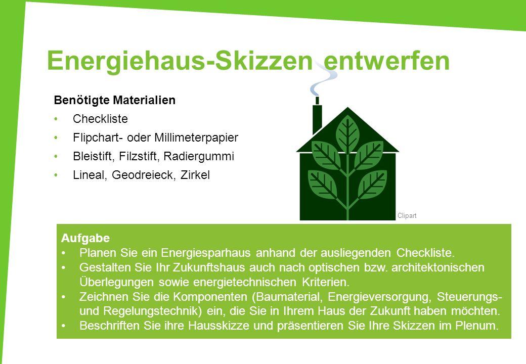 Energiehaus-Skizzen entwerfen