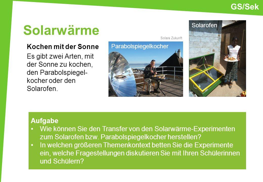 GS/SekSolarwärme. Solarofen. Solare Zukunft.