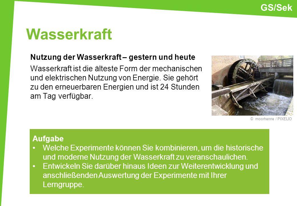 GS/Sek Wasserkraft.