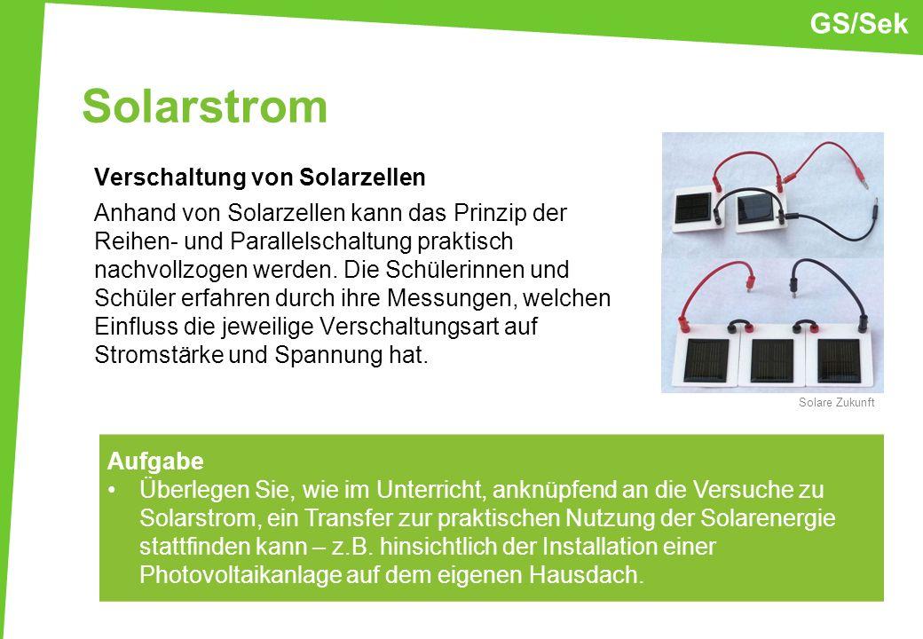 GS/Sek Solarstrom.