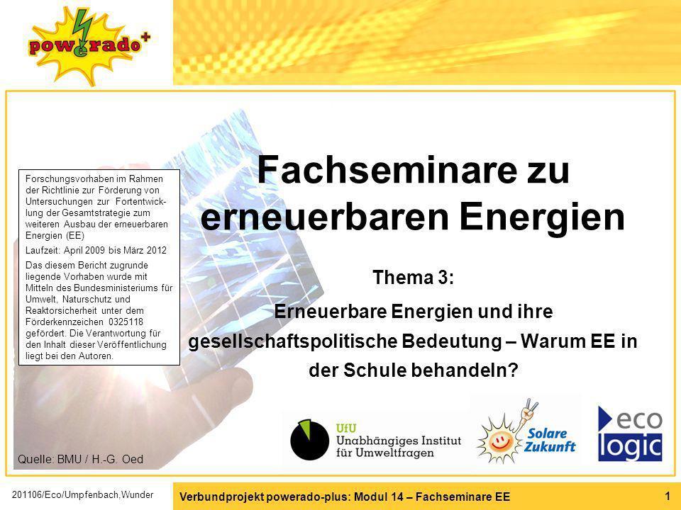 Fachseminare zu erneuerbaren Energien