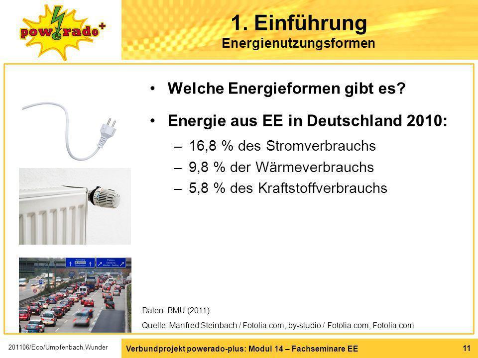 1. Einführung Energienutzungsformen