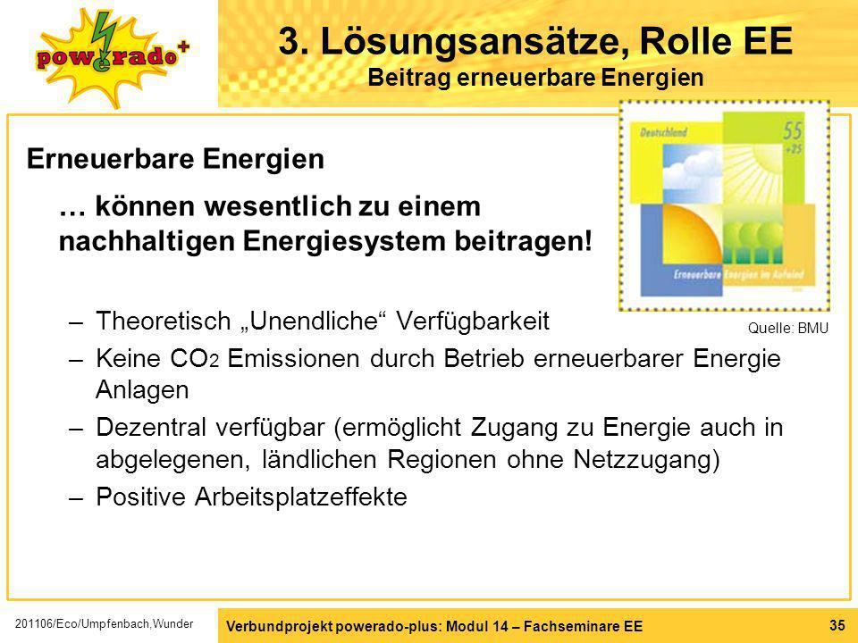 3. Lösungsansätze, Rolle EE Beitrag erneuerbare Energien