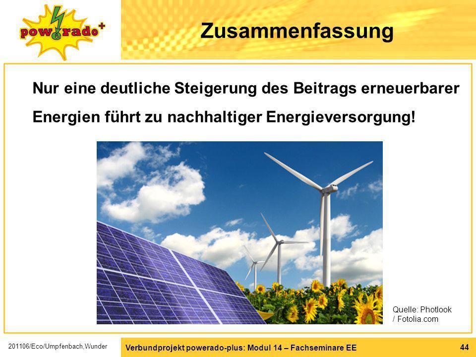 ZusammenfassungNur eine deutliche Steigerung des Beitrags erneuerbarer Energien führt zu nachhaltiger Energieversorgung!