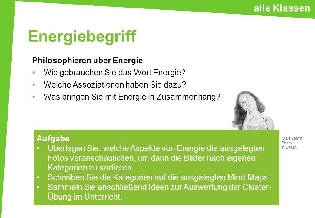 Energiebegriff alle Klassen Philosophieren über Energie