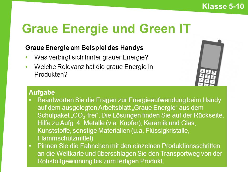 Graue Energie und Green IT