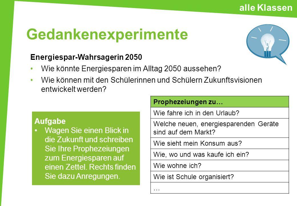 Gedankenexperimente Alle Klen Energiespar Wahrsagerin 2050