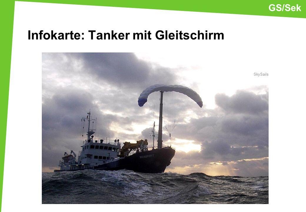 Infokarte: Tanker mit Gleitschirm