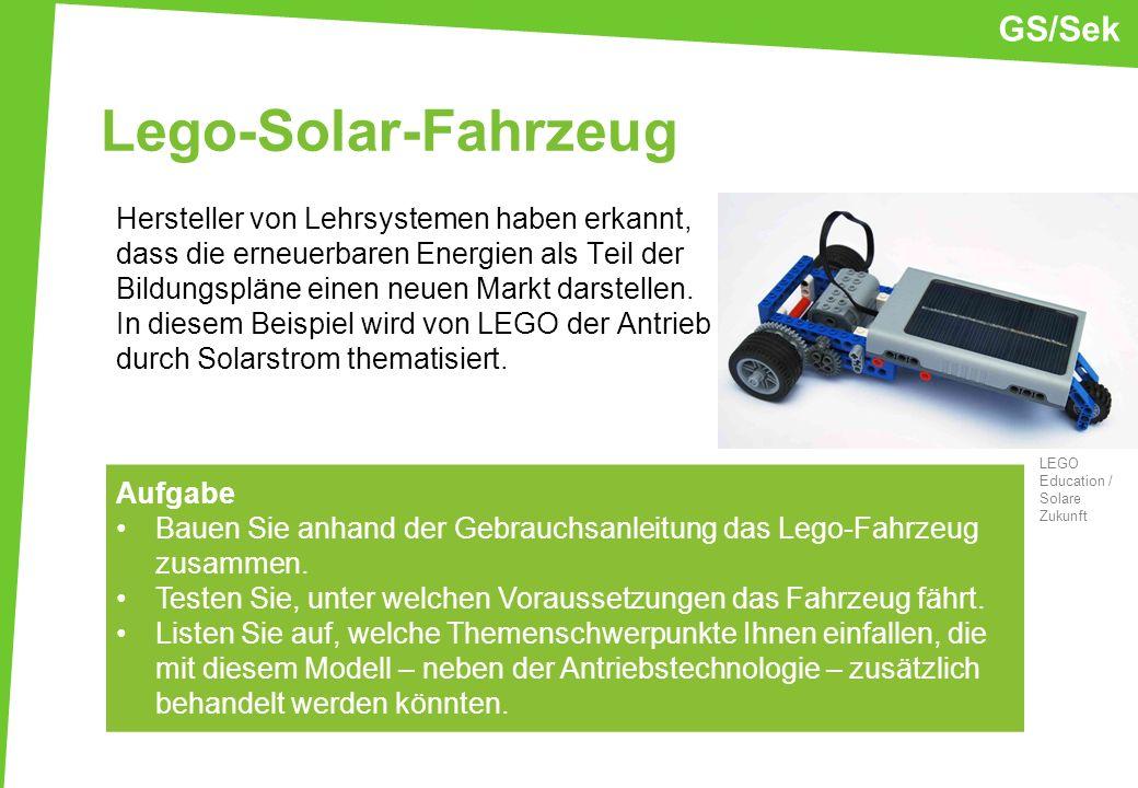 Lego-Solar-Fahrzeug GS/Sek