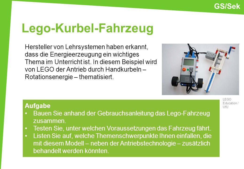 Lego-Kurbel-Fahrzeug