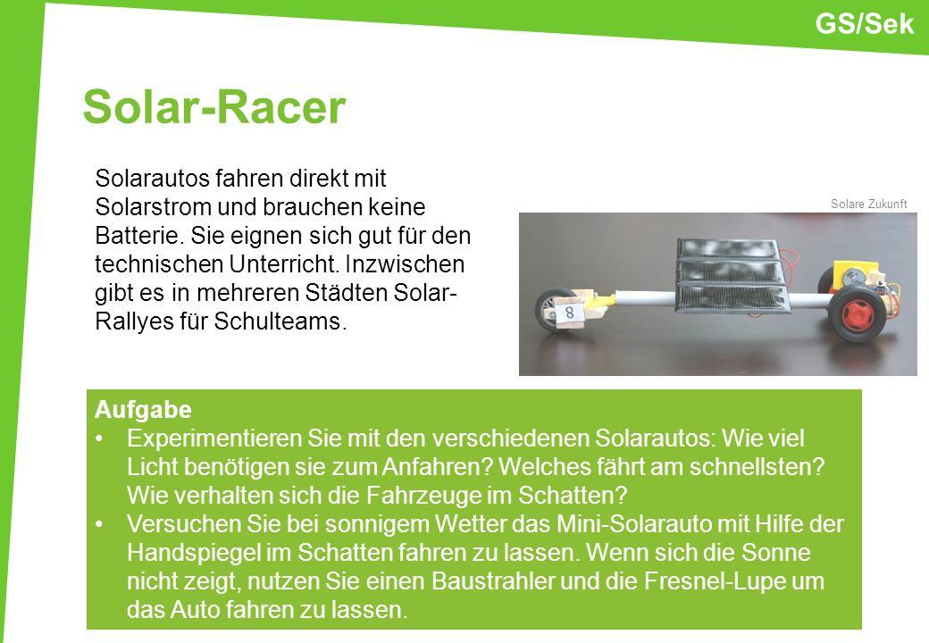 GS/Sek Solar-Racer.