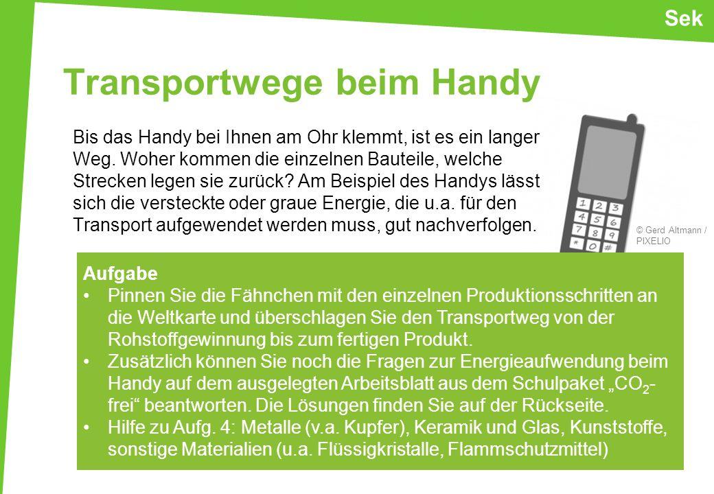 Transportwege beim Handy