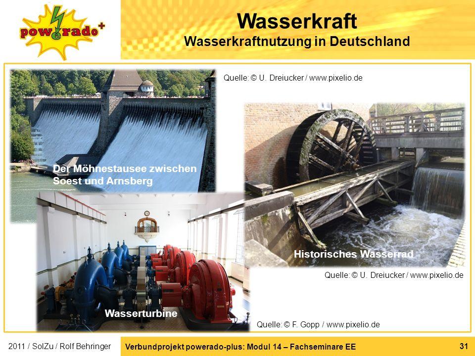 Wasserkraft Wasserkraftnutzung in Deutschland