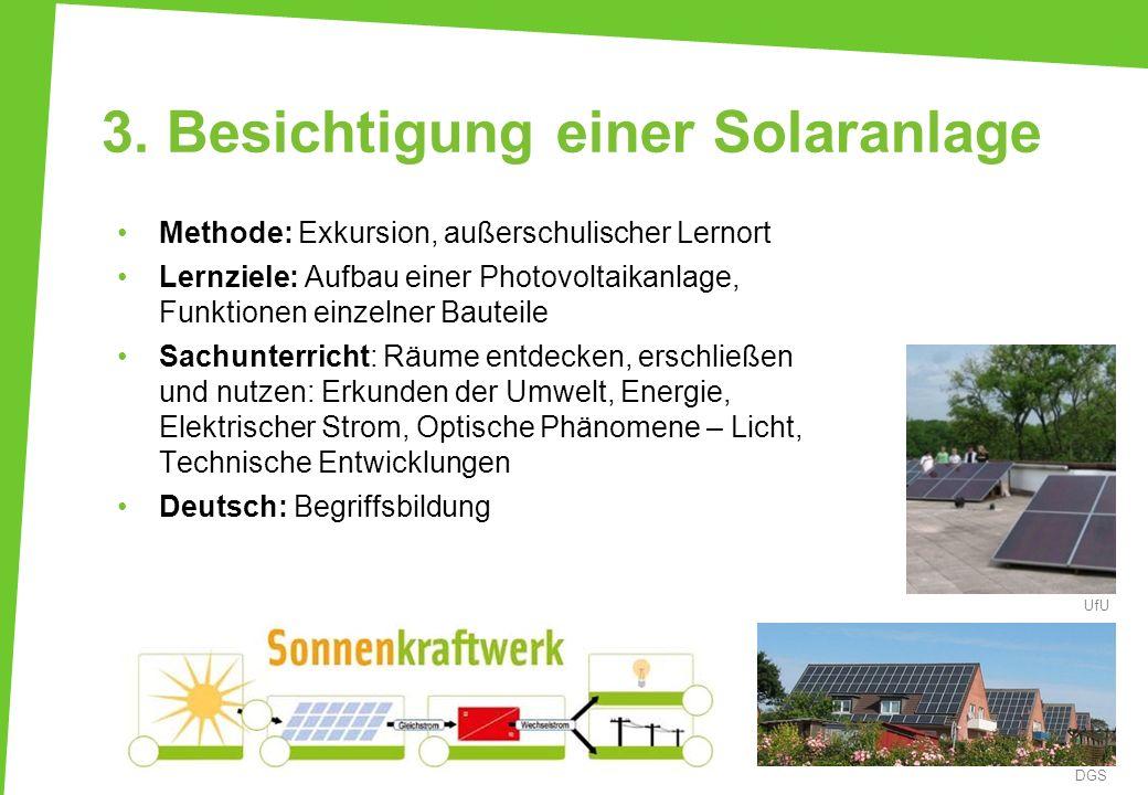 3. Besichtigung einer Solaranlage