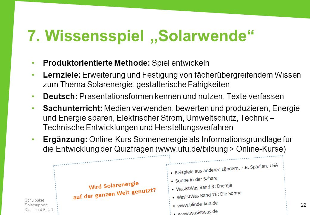 """7. Wissensspiel """"Solarwende"""