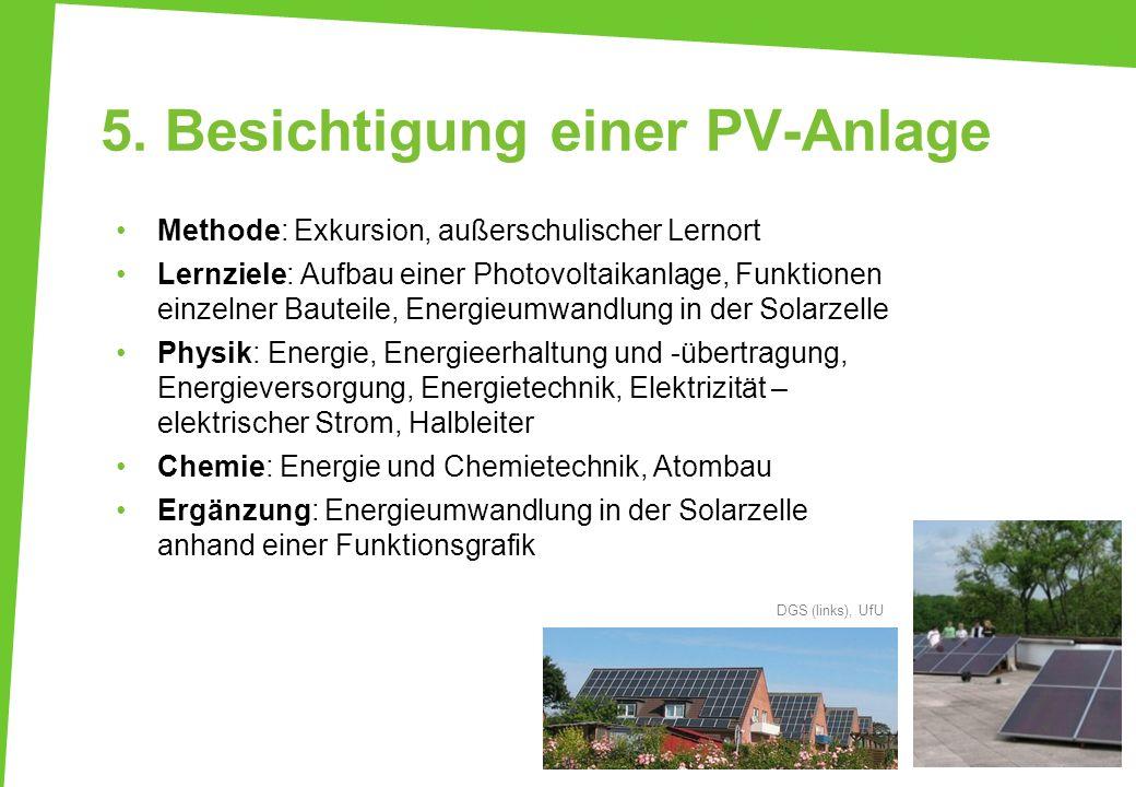 5. Besichtigung einer PV-Anlage