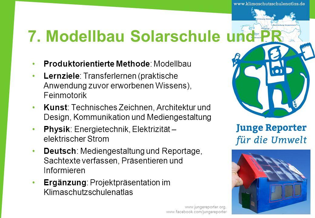 7. Modellbau Solarschule und PR
