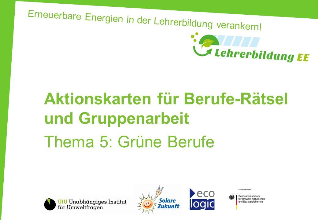 Erneuerbare Energien in der Lehrerbildung verankern! - ppt video ...