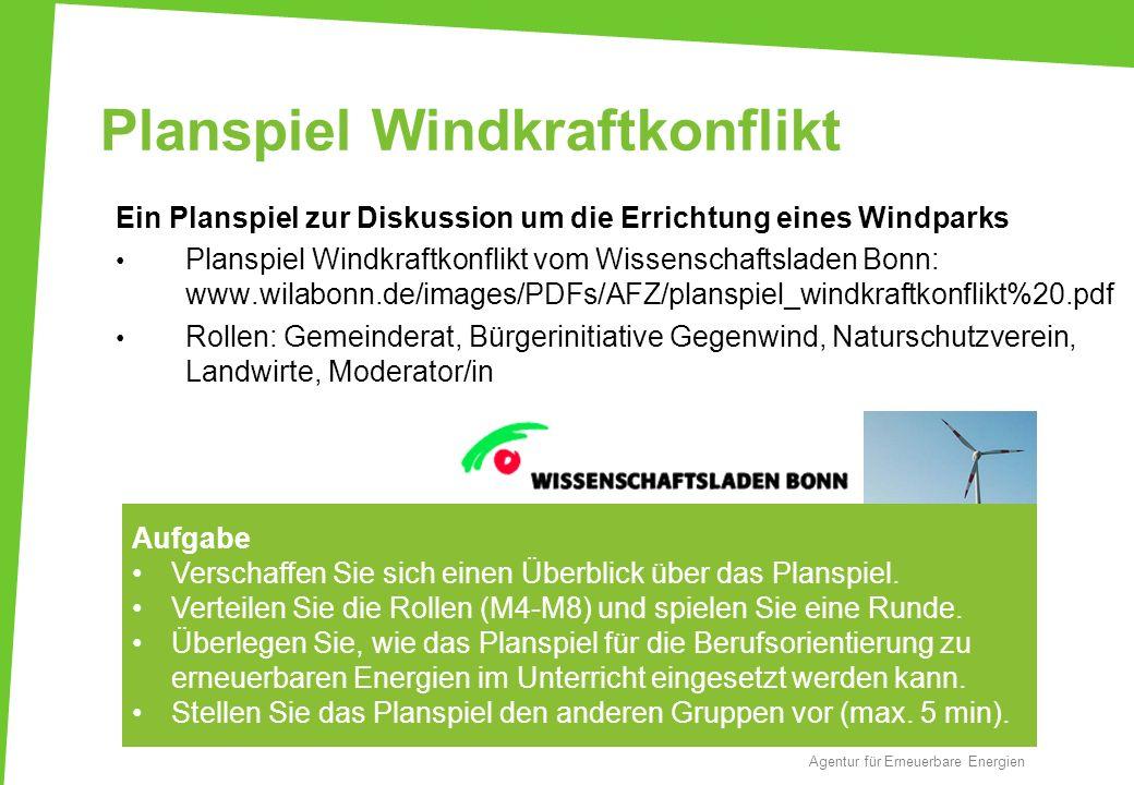 Planspiel Windkraftkonflikt