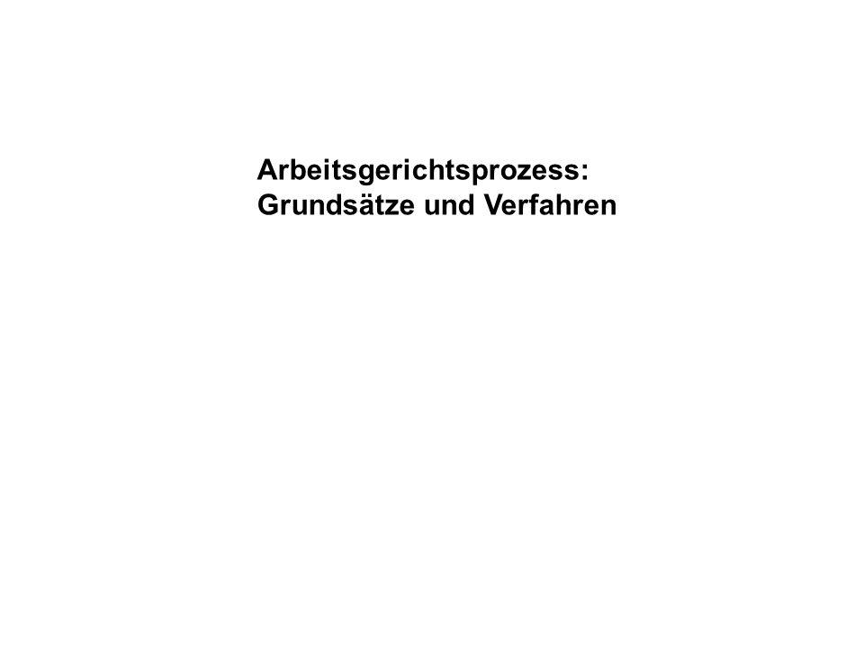Arbeitsgerichtsprozess: Grundsätze und Verfahren