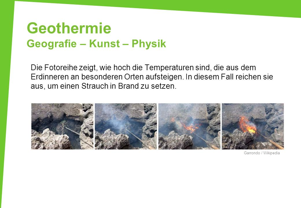 Geothermie Geografie – Kunst – Physik
